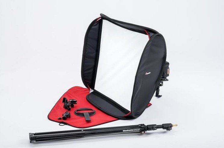 softbox reporterski Manfrotto SpeedBox 54 KIT with Bracket, Stand, Tilthead MLS54KIT