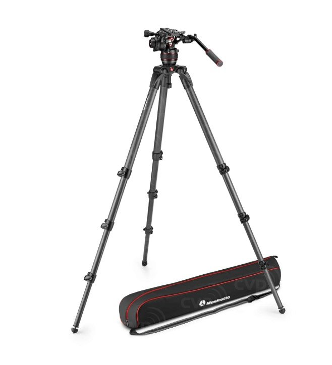 statyw Manfrotto 536 + głowica MVH608AH (MVK608CTALL)